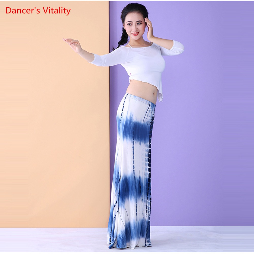 Autumn And Winter New Competition Bellydance Modal Costume Tops&Skirt 2pcs Set Belly Dance Costume Set Split Long Skirt