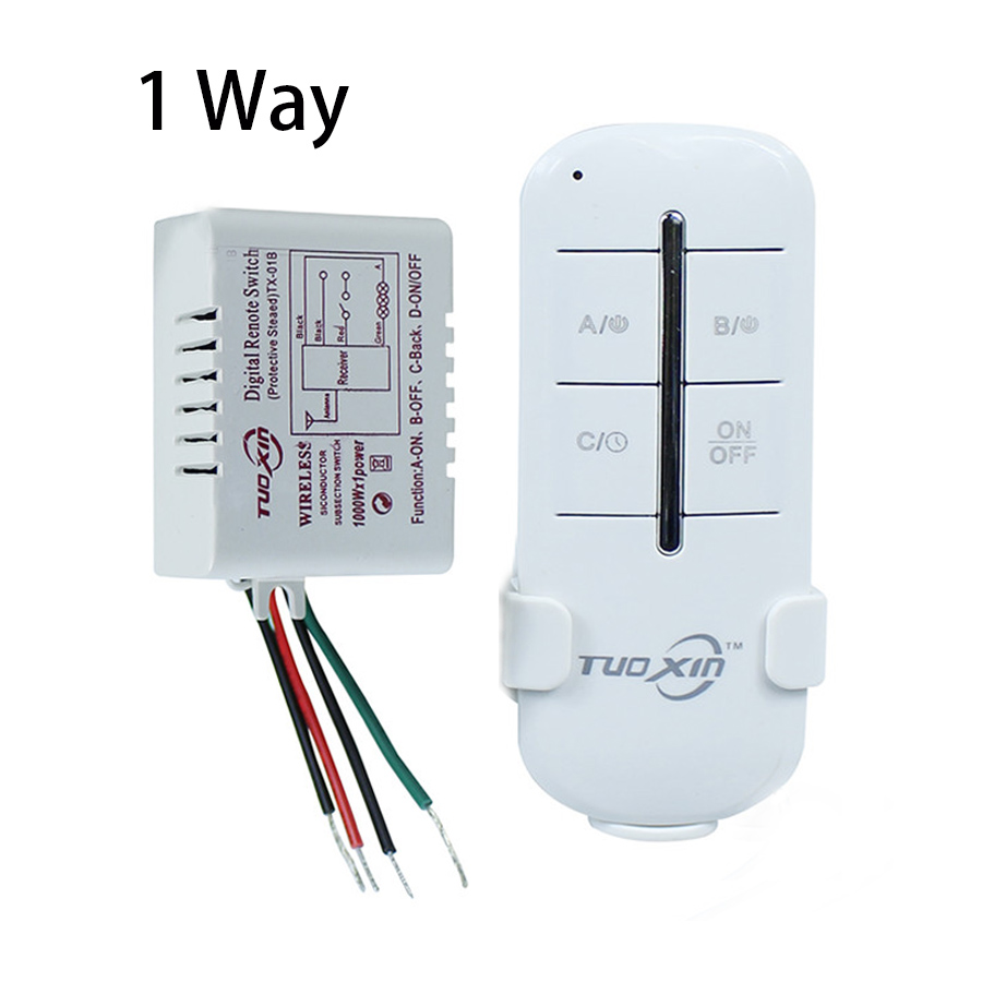 1 Set 220V 1 Way ON/OFF Digital RF Remote Controller Switch Wireless Transmitter For LED Lamps Light