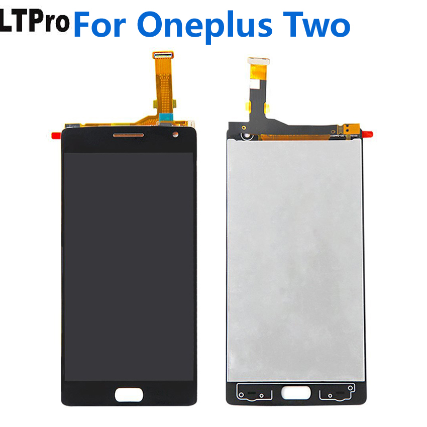 LTPro 100% Warranty Working For <font><b>Oneplus</b></font> <font><b>2</b></font> Black Mobile <font><b>Replacement</b></font> For <font><b>Oneplus</b></font> Two LCD Display+Touch <font><b>Screen</b></font> Digitizer Assembly image