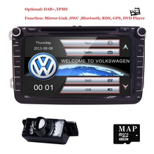 8″Car DVD GPS builtin mic CanBus support fit Original VW UI for VW Volkswagen POLO PASSAT B6 Golf 5 6 SWC BT RDS Radio FM/AM Cam