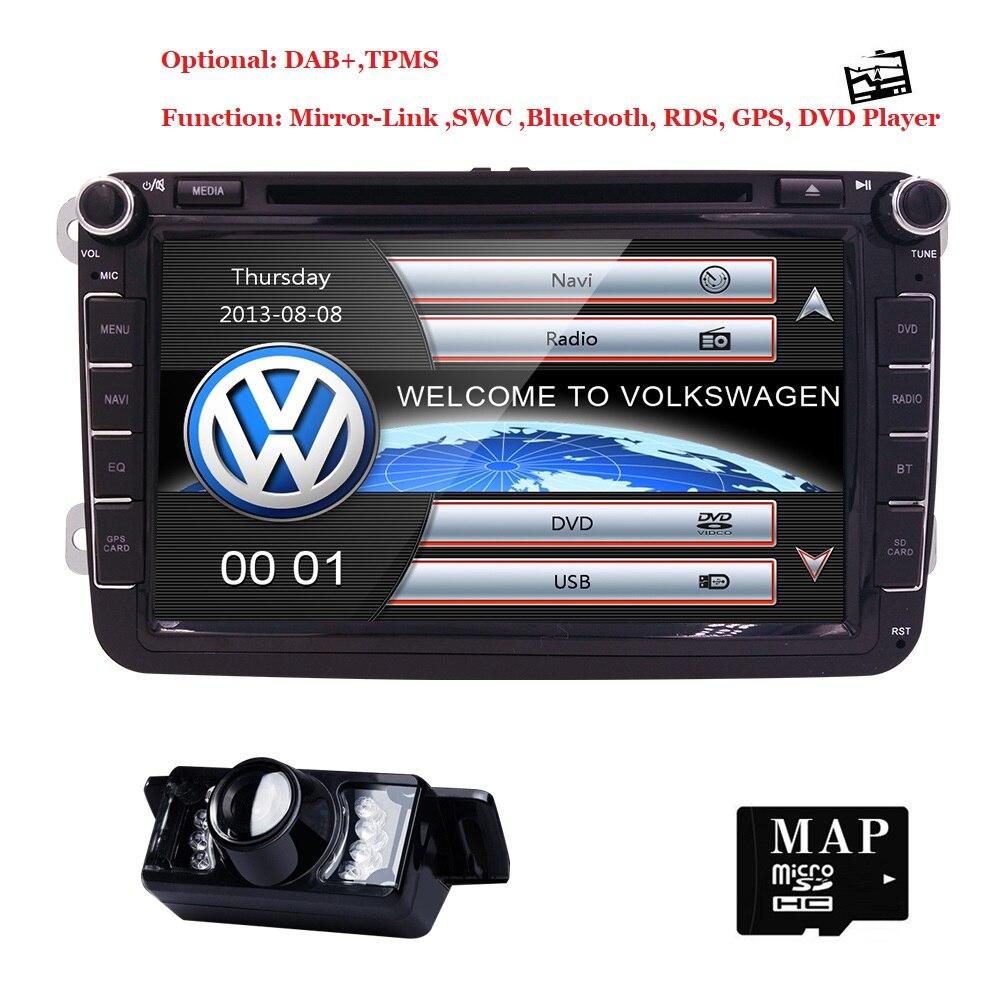 8 voiture DVD GPS intégré micro CanBus soutien ajustement D'origine VW UI pour VW Volkswagen POLO PASSAT B6 Golf 5 6 CFC BT RDS Radio FM/AM Cam