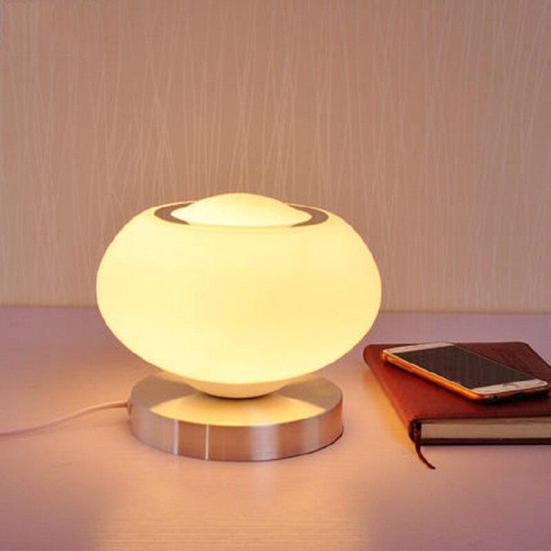 Desk Lamps Modern Mushroom Led Desk Lamp Metal Table Lamps Reading Lights For Childrens Room Bedroom Bedside Study Home Lighting Fixtures
