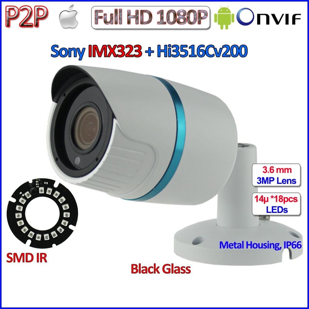 все цены на Best price 1080P mini ip camera IMX323 Sensor 2MP outdoor ip cam Night Vision CCTV, 3MP HD Lens, H.264, P2P, ONVIF 2.4 + bracket онлайн