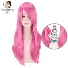 Anime Cosplay The royal elder sister Long Wavy Pink Wig Synthetic Hair Halloween Costume Party Wigs For Women High Temperature