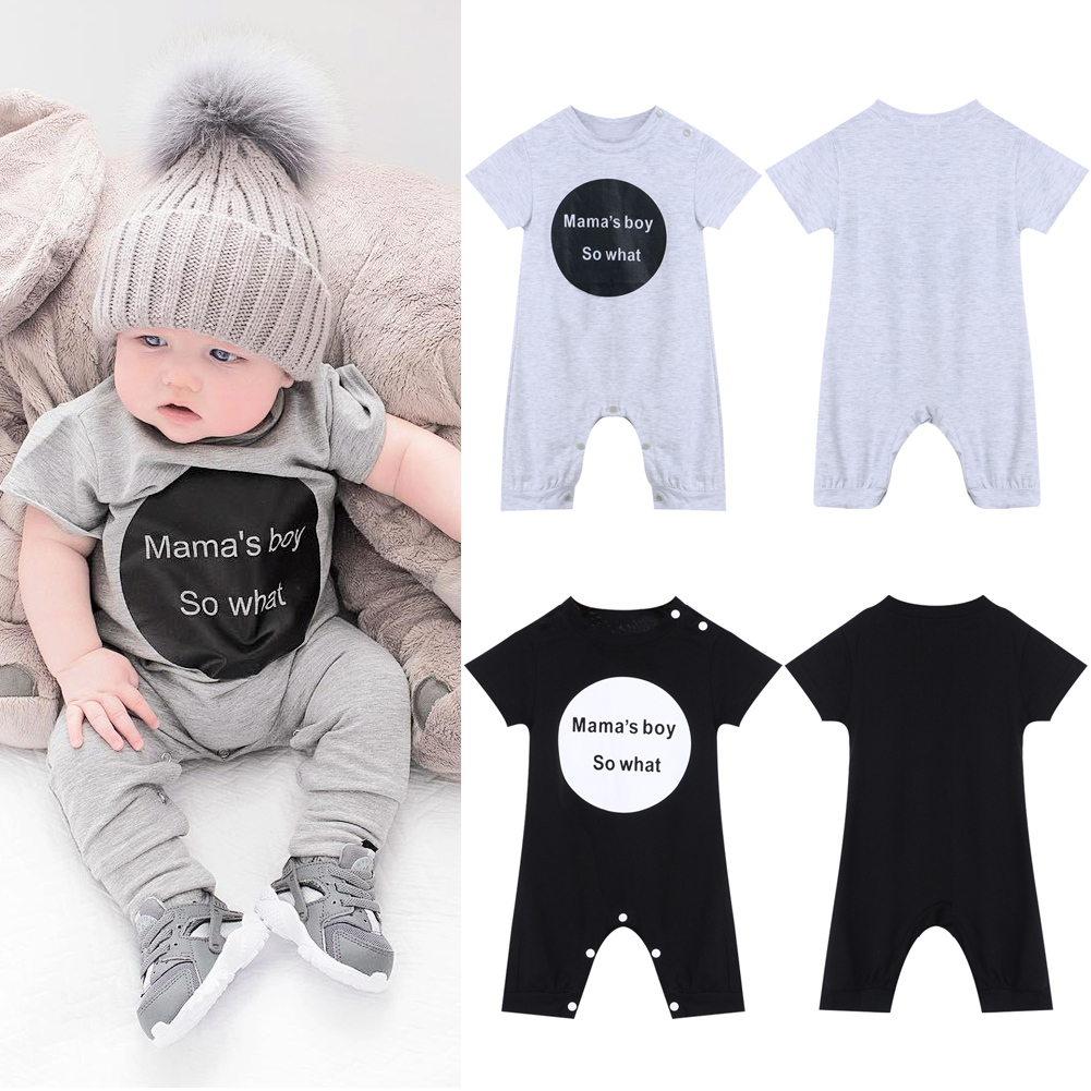 Baby Clothing Baby Boy Clothes Baby Girl Mama\'s Boy Short Sleeve Baby Romper Climbing Bebe Clothes Set Newborn Jumpsuit AO#P newborn baby boy girl clothes set short sleeve top bodysuits leg warmer bow headband 3pcs clothing outfits set