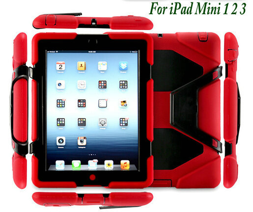 Factory Direct Sale Silicon Military Extreme Armor Heavy Duty Waterproof Shockproof Case Cover With Stand For iPad Mini 1 2 3