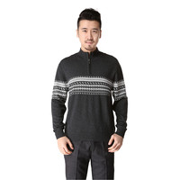 Free Shipping Men S Half Zipper Neck Kniited Cashmere Sweater ZW1102
