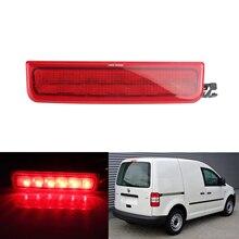 ANGRONG LED Rear High Level Brake Stop Light Lamp For VW Caddy MK3 2004-2015 Red Lens
