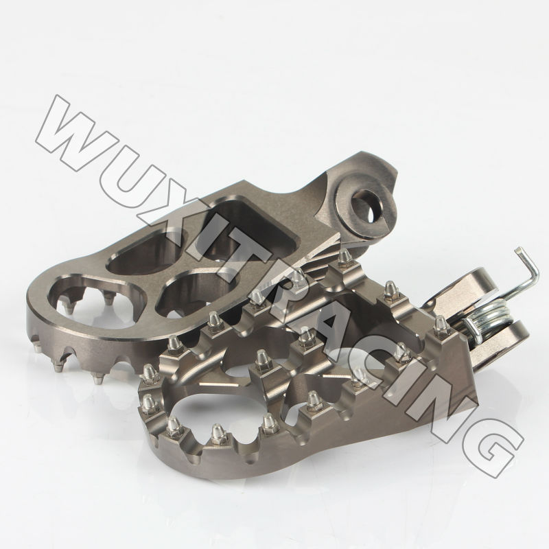 TITANIUM Motorcycle front Foot Rests footrest Foot pedal Foot Pegs For SUZUKI RMZ 250 2010 2014