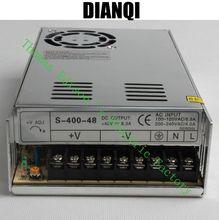 Высокое Качество Питания 48 В 400 Вт ПЕРЕМЕННОГО ТОКА в ПОСТОЯННЫЙ Источник Питания AC DC Преобразователь S-400-48