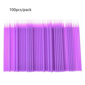 100pcs/bag Multi-color Disposable Micro Eyelash Brush Mascara Wands Applicator Wand Brushes Eyelashes Extension Makeup Tool 30# 1