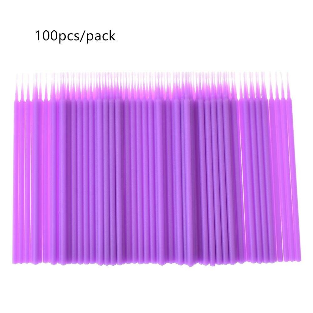 100 шт./пакет многоцветные Одноразовые микро щеточки с тушью для ресниц палочки Аппликатор палочка кисти наращивание ресниц инструмент для м...