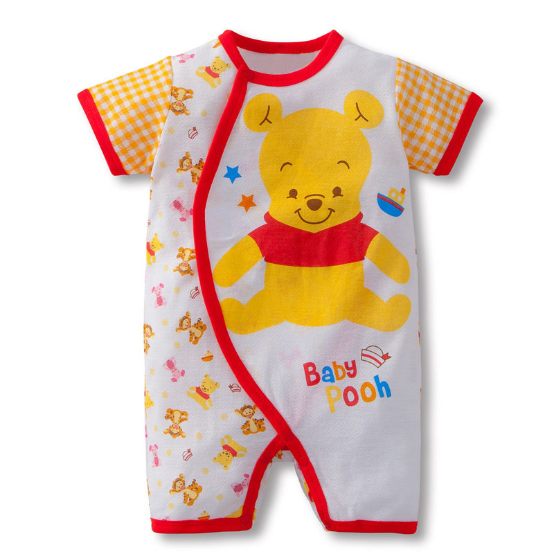 Baby Rompers Summer 100% Cotton Short Sleeve Cartoons 4Styles Baby Girl Clothes Toddler Boy Jumpsuits Bebe Roupas HB044