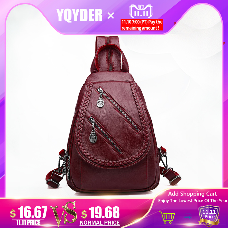 Fashion Double Zipper Leisure Women Backpack PU Leather Backpacks Female School Shoulder Bags for Teenage Girls Travel Back Pack 2018 soft women backpacks women s pu leather backpacks female school backpack women shoulder bags for teenage girls travel back