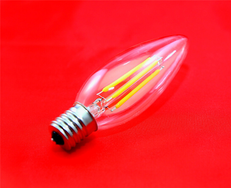 2015 New arrive LED filament LED bulb E17 2W 4W Candle Light LED bulb lamp AC 110V Warm white Free shipping