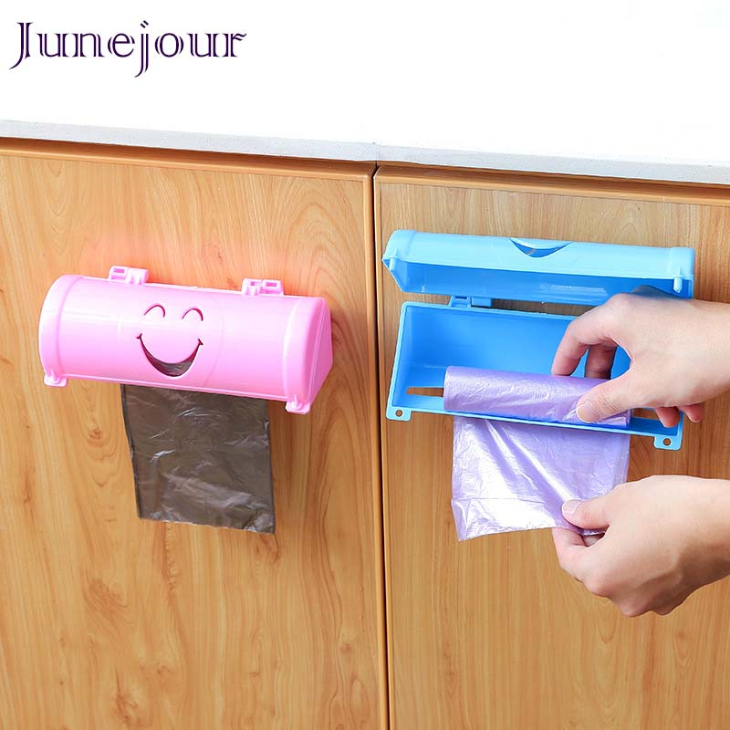 Junejour Storage-Container Bathroom-Organizer Trash-Bags Wall-Mounted Plastic Kitchen