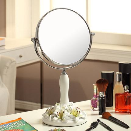 Nueva doble estilo Europeo grande escritorio espejo resina de la manera linda Princesa portátil vestidor espejo