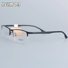 Belmon Eyeglasses Frame Men Computer Optical Prescription Myopia Nerd Clear Lens Eye Glasses Spectacle For Male RSD035