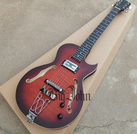 free shipping new Big John F hole electric guitar in smoked color with mahogany body F 3418