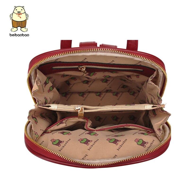 036b4e0ec6bc Beibaobao Women Backpack High Quality PU Leather Mochila Escolar School Bags  For Teenagers Girls Top handle Backpacks b007 b-in Backpacks from Luggage  ...