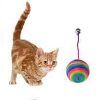 Красочные Симпатичные Собак Pet Puppy Cat Котенок Тизер Игры Играть чу Дребезжащий Царапинам Поймайте Игрушки Веревка Weave Мячи Собаки Кошки игрушка