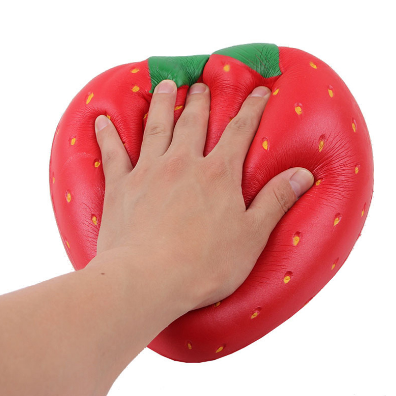 25cm Strawberry Squishes Toy Creative Soft Slow Rising Gift Antistress Gaint Squeeze Toys For Kids diamond huge pink blue giant slow rising soft toy gift collection squishying 21 17cm antistress ball relief funny gift toys