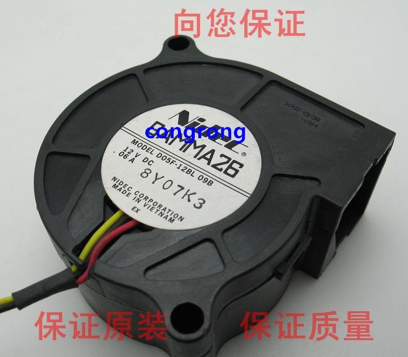 Вентилятор D05F-12BL 5025 12V0.06A, ультратихая турбина