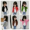 Детская одежда девушки свитер вязать кардиган куртки Сезона стиль конфеты цвет хлопка высокого качества