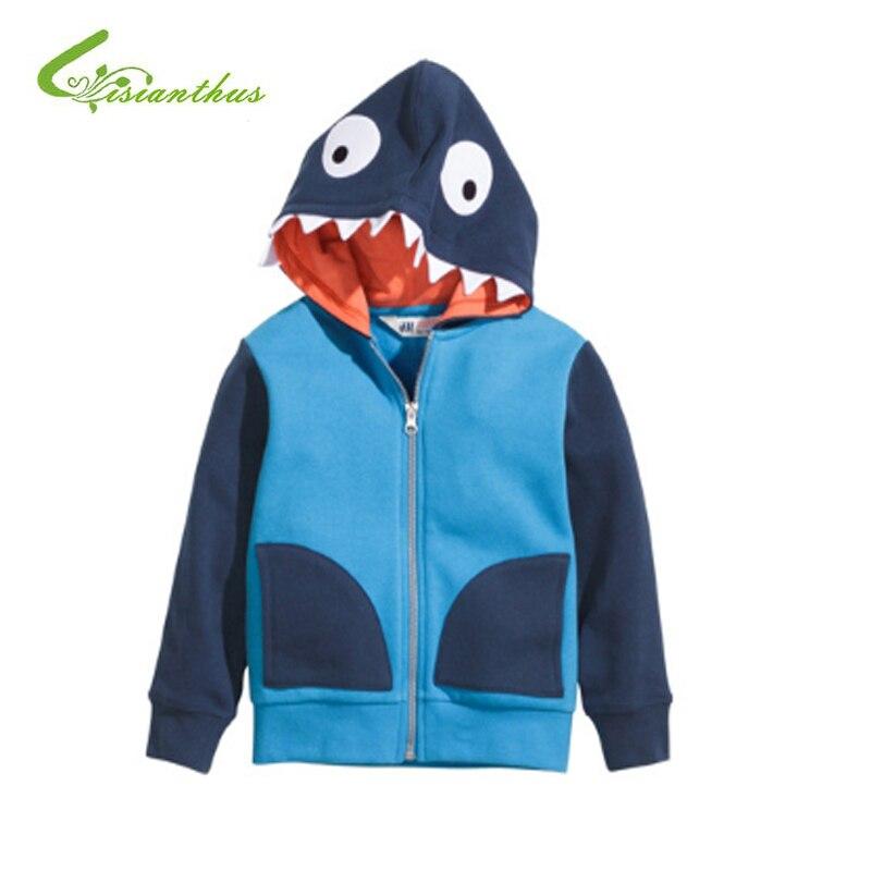 Демисезонный Обувь для мальчиков крокодил динозавров куртка с капюшоном Толстовки Детское пальто Верхняя одежда Детская одежда для девоче...