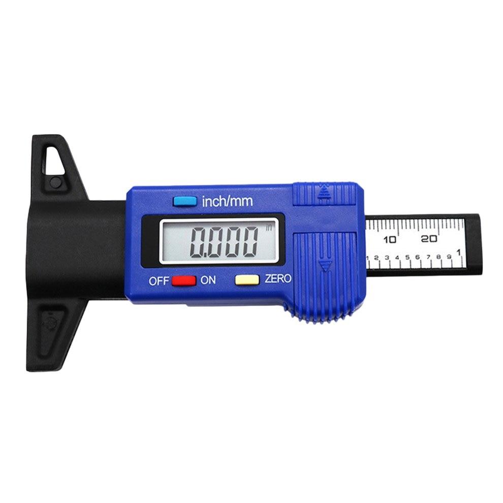 Digital Car Tire Tread Depth Tester 0-25mm Tyre Tread Depth Gauge Meter Measurer Tool Caliper LCD Display Tire Measurement Hot