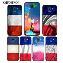 For Samsung Galaxy j8 j7 j6 j5 j4 j3 Plus Prime 2018 2017 2016 Black Silicone Phone Case France paris flag Style