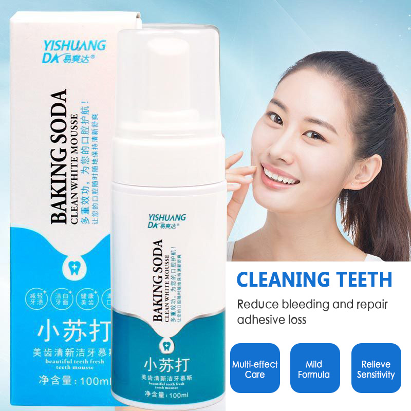 Dropshipping 100ml Baking Soda Mousse Foaming Toothpaste Teeth Whitening Tooth Paste Cleansing Natural Mildness Toothpaste Tslm1 Toothpaste Aliexpress