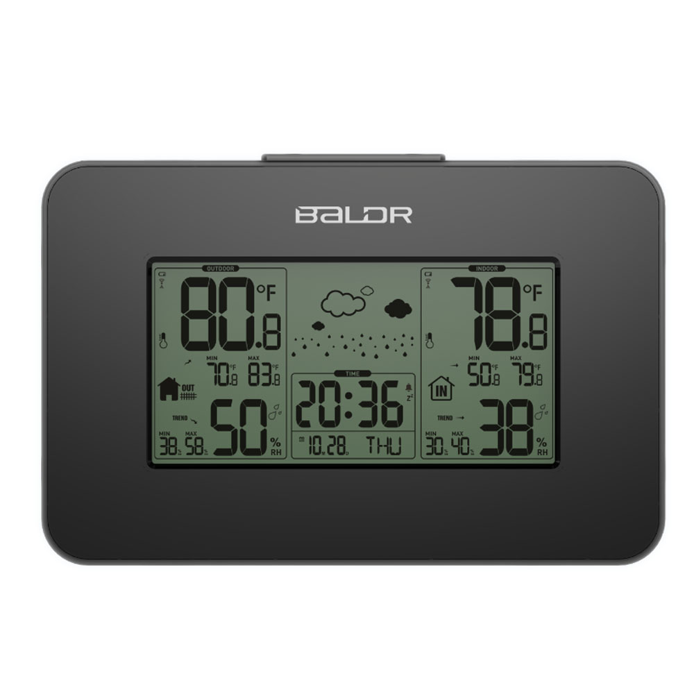 LCD Wireless Indoor Outdoor Temperature Humidity Sensor Snooze Alarm Clock Digital Hygrometer Weather Station Thermometer