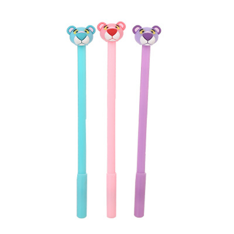 1pcs Pink Panther Gel Pens Cute Pens 0.5mm Cute Stationary Novelty Cartoon Gel Pen New Student Kawaii Pen Kawaii School Supplies