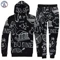 Mr.1991INC New Fashion Hip Hop Men's hoodies street wear cartoon casual hooded hoody 3d sweatshirt tracksuits lovely pant