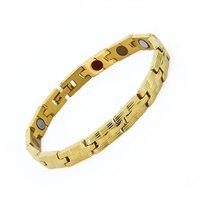 Magnetic Bracelets For Men Woman 316L Stainless Steel Healing Magnet Health Care Charm Bracelet Plated Gold