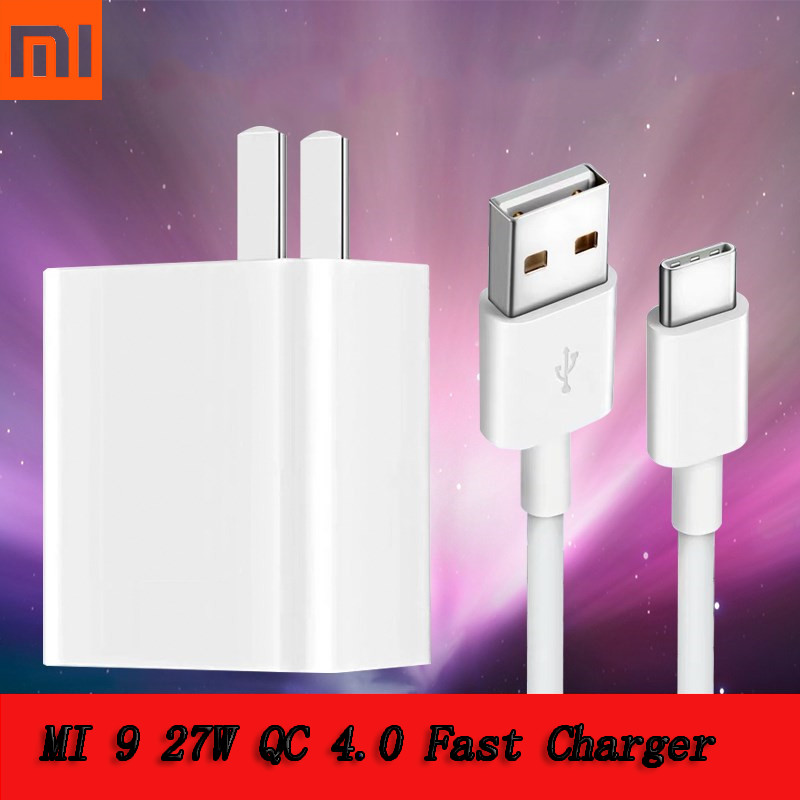 Original Xiaomi Mi 9 Fast Charger Qc 4.0 27w Usb Wall Quick Charge Adapter Usb 3.1 Data Cable For Mi9 Se Mi 8 7 F1 Mix 2 2s 3 Cellphones & Telecommunications