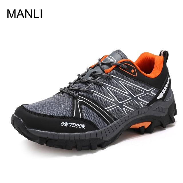 official photos 0a4d3 d04d4 MANLI Männer Wanderschuhe Wasserdicht Atmungsaktiv Outdoor Bergsteigen  Stiefel Luxus Marke Schuhe Sport Wandern Trekking