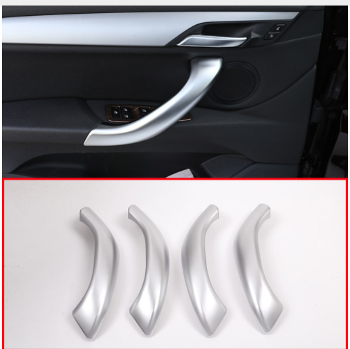 4pcs ABS Matte Silver Car Interior Door Handle Car Accessories For BMW X2 F47 2018 For BMW X1 F48 2016 2018 in Interior Mouldings from Automobiles Motorcycles