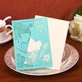 22 Цвет Бесплатная Доставка 12 ШТ. Романтический Лазерная Резка Жених и Невеста Свадебные Приглашения Конверт Карты Сувениры Свадебный Декор