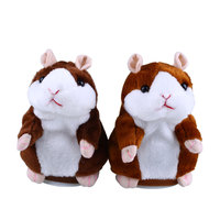 Talking Hamster Speak Talk Sound Record Repeat Stuffed Plush Animal Child Toy