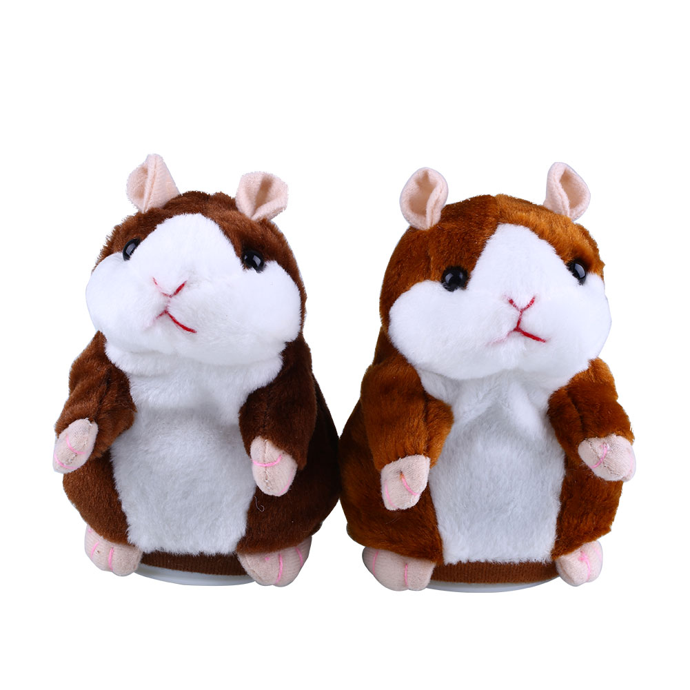 Talking Hamster Speak Talk Toy Sound Record Repeat Stuffed Plush Animal Child Toy creative kids talking hamster electronic pet toy 1pc