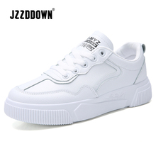 JZZDDOWN New Designer Wedges White Woman Sneakers Shoes Female Flats Women Tenis Feminino Casual