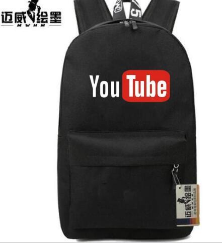 3116135f12 Hot vendita Divertente Youtube Logo zaino donne uomini zainetto ragazza  Ragazzo borsa da viaggio a tracolla adolescenti Borsa Del Computer  Portatile in ...