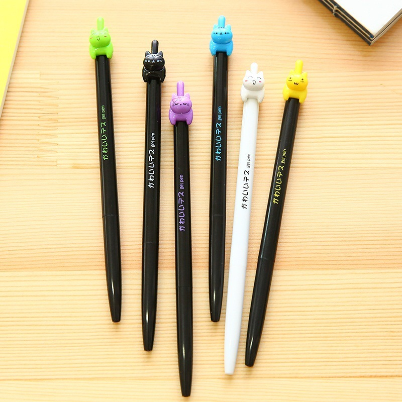 цена на 48 pcs/Lot Cute cat gel-ink pen Wholesale pens zakka Kawaii Stationery Canetas papelaria Office accessories school supplies