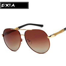 Graduated Brown Lenses Polarized Sunglasses Men Fashion Classical Eyewear EXIA OPTICAL KD-203 Series