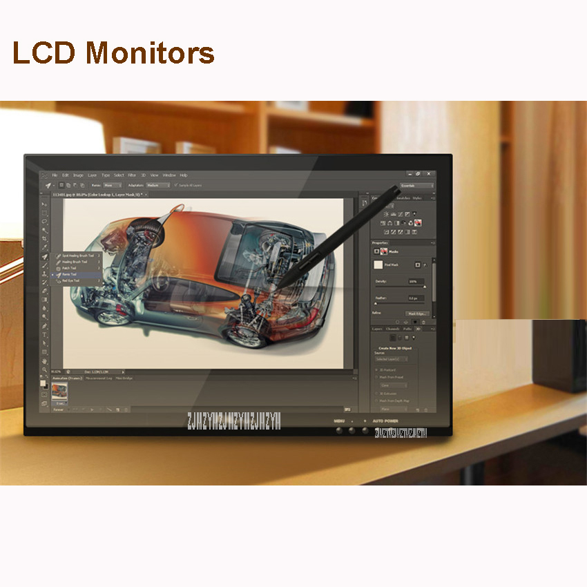 Nouveau G190 19-Pouces Stylo Affichage LCD Moniteur Tactile Sreen Moniteurs Graphique Dessin Tablette Numérique Noir Main-peint écran numérique