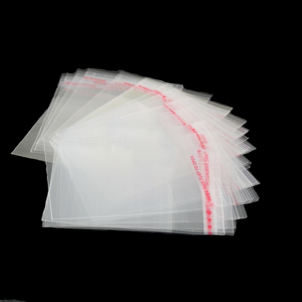 Multi Размеры 200 шт. прозрачный многоразовая целлофановая упаковка пакетики из БОПП-пленки Self клейкий пластиковый пакет самоклеющиеся Seal сумки и конфеты