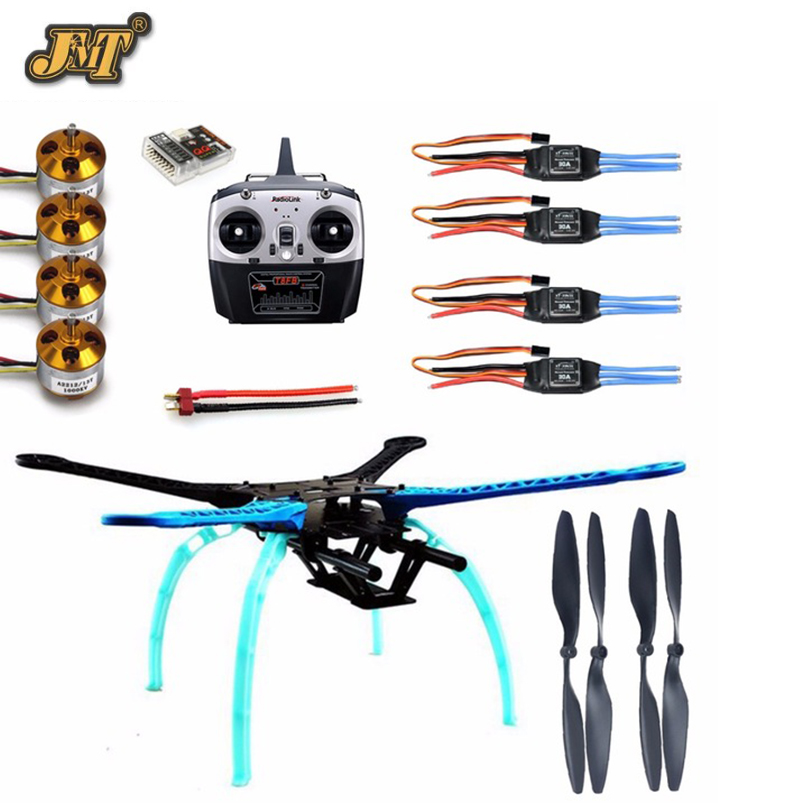 JMT 500mm Multi-Rotor Air Frame Kit S500 w/ Landing Gear+ESC Motor Welded+QQ SUPER Control Board+Radiolink T8FB RX&TX+Propellers