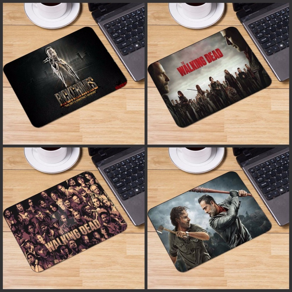 Yuzuoan Luxury Print 1 PC of The Walking Dead Laptop Special Style Optal Laser Non Slip PC Mouse Pad Table Mat As Boys Gift